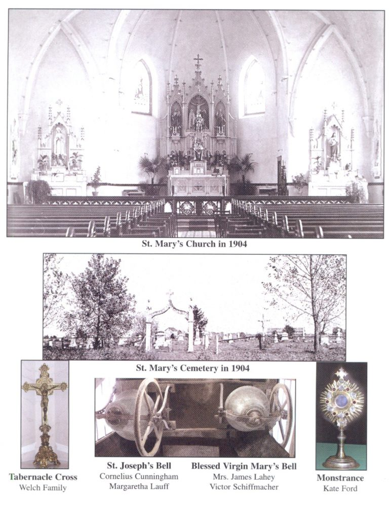 Image of St Mary Church, Cemetery, St Joseph's Bell, Blessed Virgin Mary's Bell, Tabernacle and Monstrance