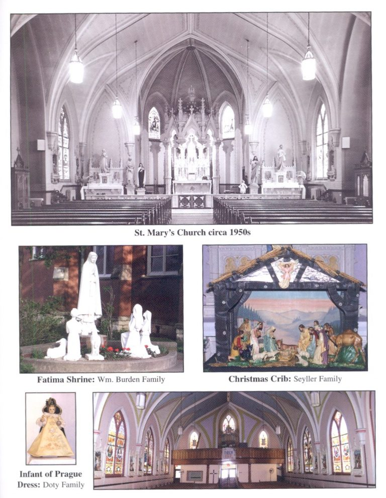 Image of St Mary's Church, Fatima Shrine, Christmas Crib and Infant of Prague Dress