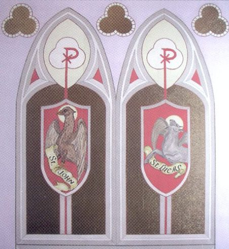 Murals of the Four evangelists